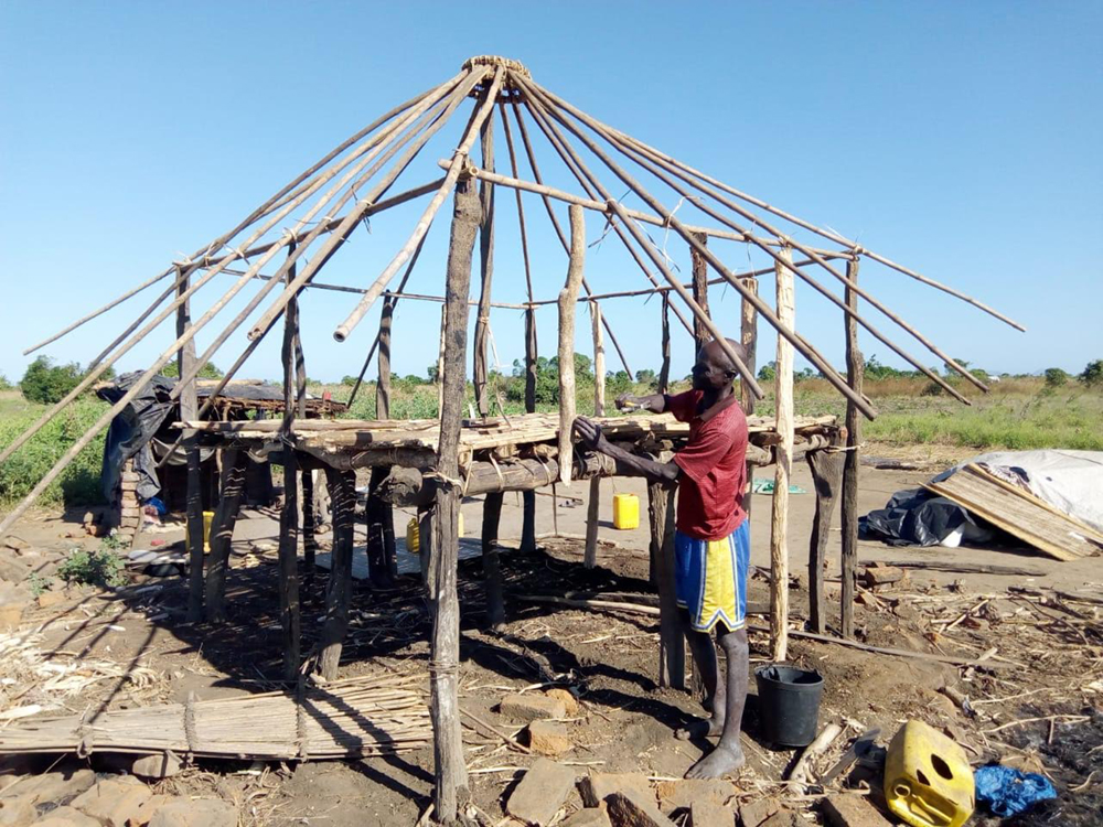 Rebuilding in central Mozambique