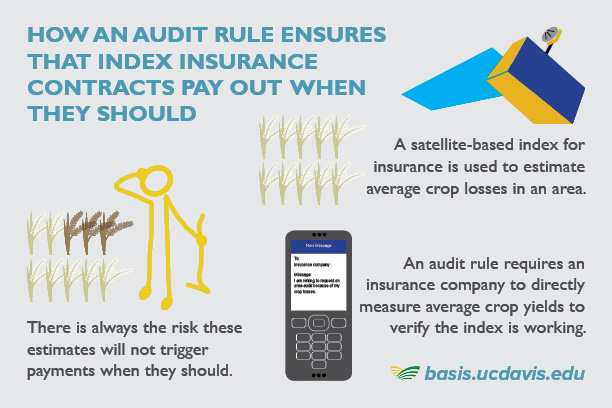 Audit rule for index insurance