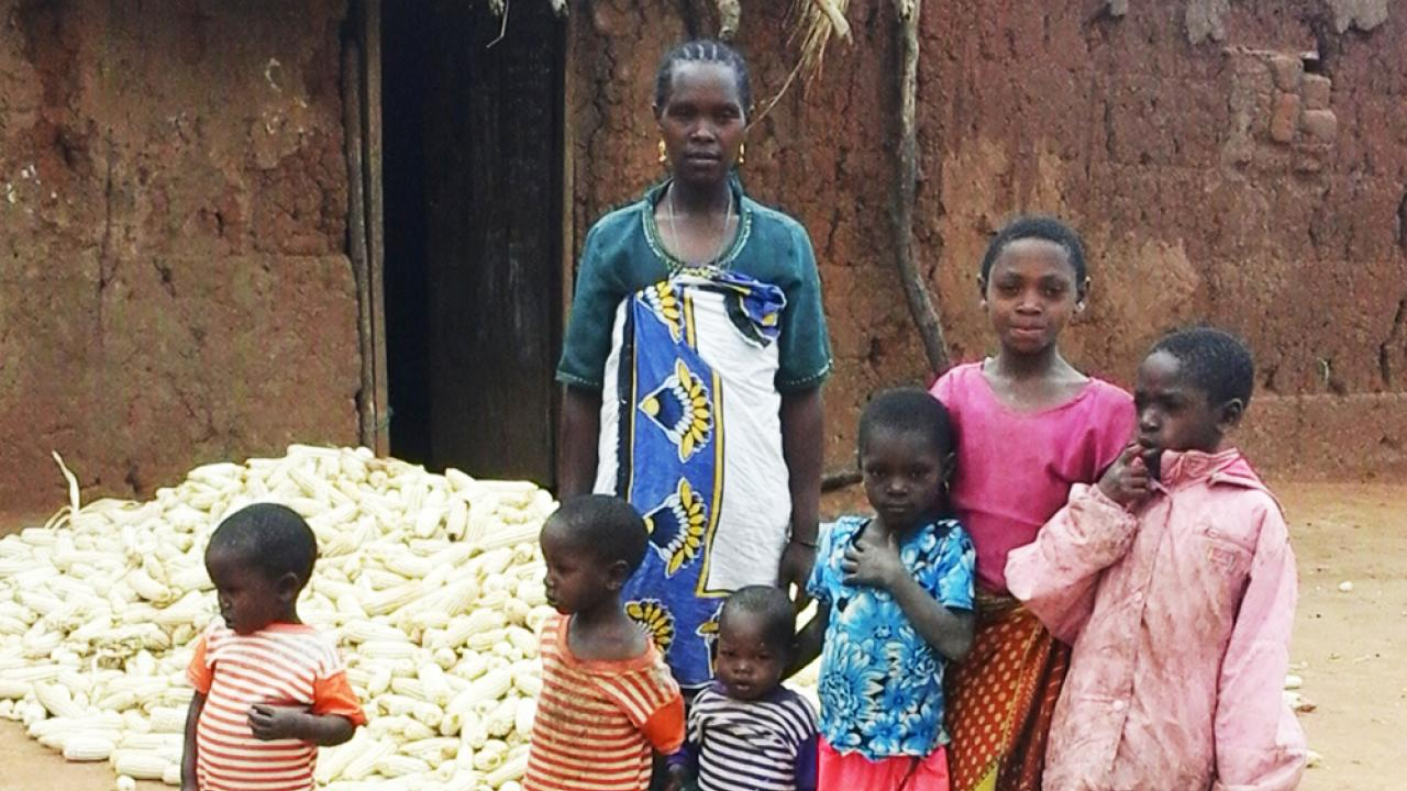 Rural family in Tanzania