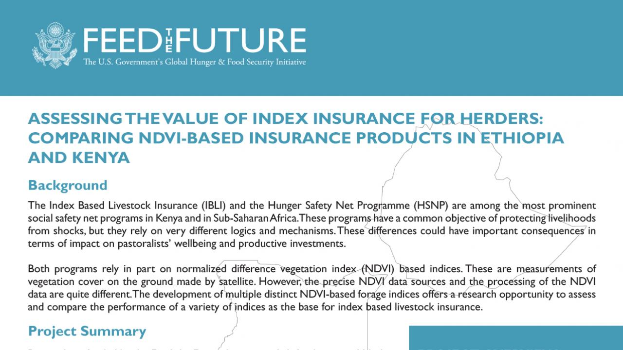 Assessing the Value of Index Insurance for Herders
