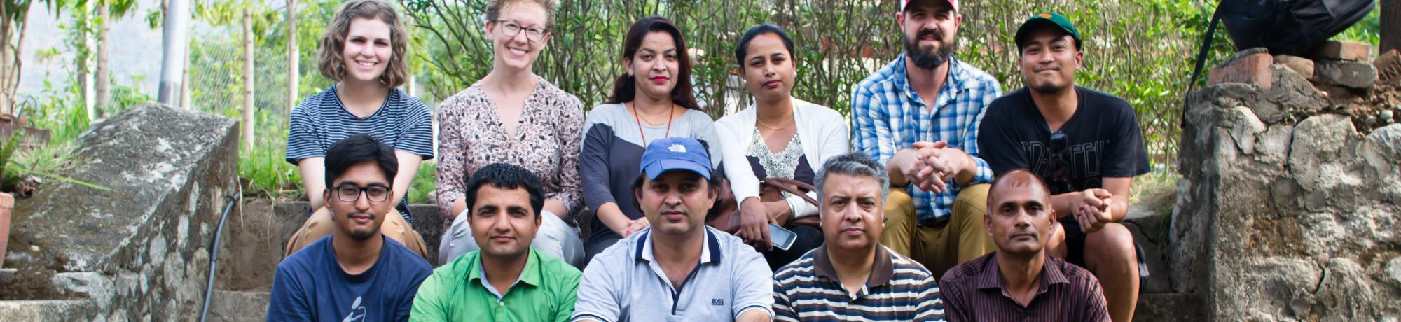 Project team in Nepal